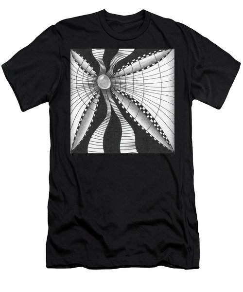 Men's T-Shirt (Athletic Fit) featuring the drawing A Bow Of Boze by Jan Steinle