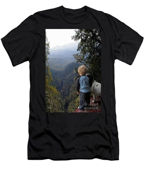 A Boy And His Dog Men's T-Shirt (Athletic Fit)