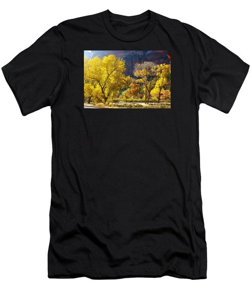 A Bright Gathering Of Trees Men's T-Shirt (Athletic Fit)