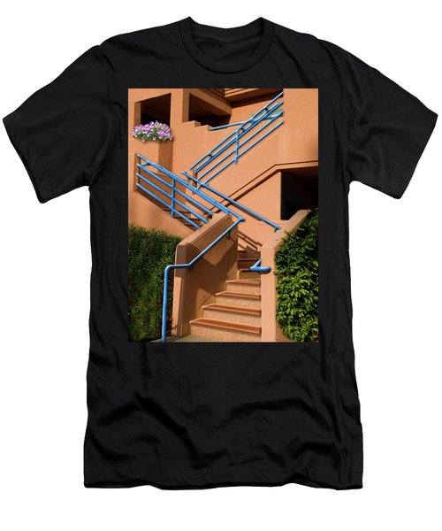 Men's T-Shirt (Athletic Fit) featuring the photograph A Bunch Of Pansies by Paul Wear