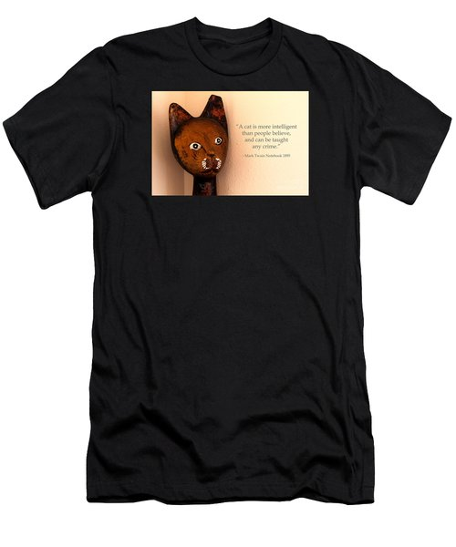 Men's T-Shirt (Athletic Fit) featuring the photograph A Cat Is More Intelligent by Beauty For God