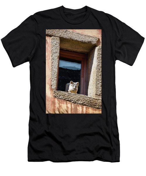 A Cat On Hot Bricks Men's T-Shirt (Athletic Fit)