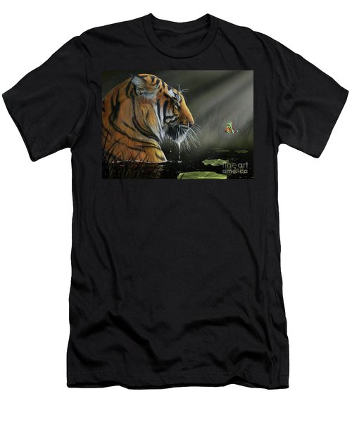 A Chance Encounter II Men's T-Shirt (Slim Fit) by Don Olea