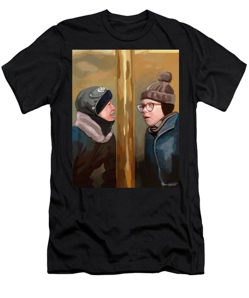 A Christmas Story Tongue Stuck To Pole Men's T-Shirt (Athletic Fit)