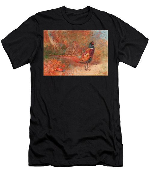 A Cock And Hen Pheasant Unframed Men's T-Shirt (Athletic Fit)