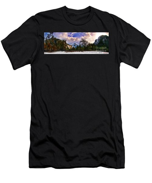 A Cold Yosemite Half Dome Morning Men's T-Shirt (Athletic Fit)