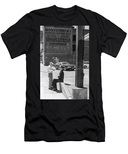 Men's T-Shirt (Athletic Fit) featuring the photograph A Conversation by Frank DiMarco