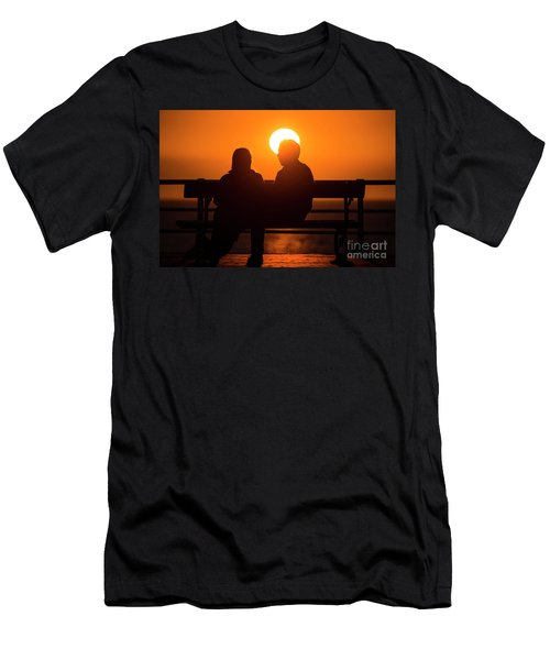 A Couple Sitting At Sunset Men's T-Shirt (Athletic Fit)