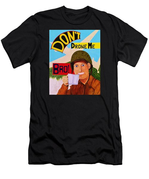 Men's T-Shirt (Slim Fit) featuring the painting A Cup Of Joe by Rand Swift