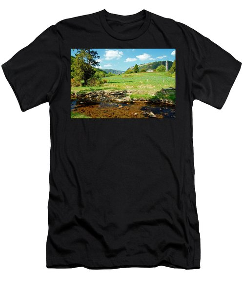 A Day In Glendalough Men's T-Shirt (Slim Fit) by Martina Fagan