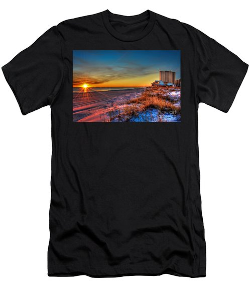 A December Beach Sunset Men's T-Shirt (Athletic Fit)