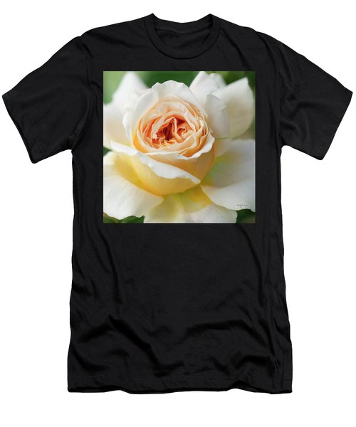 A Delicate Rose In Peach Men's T-Shirt (Athletic Fit)
