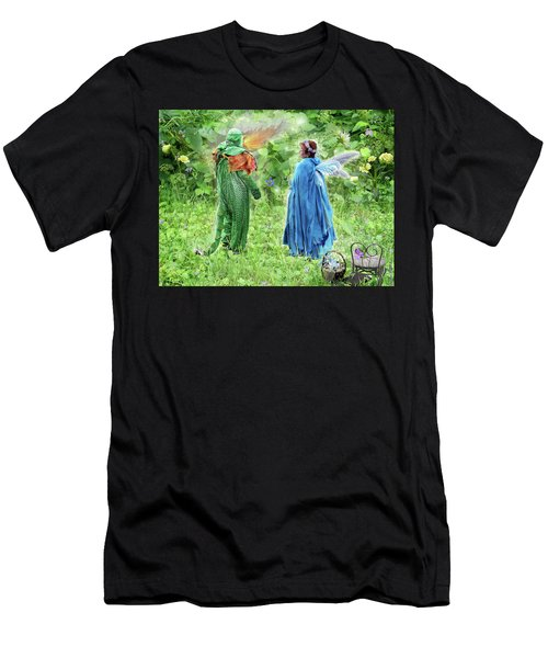 A Dragon Confides In A Fairy Men's T-Shirt (Athletic Fit)