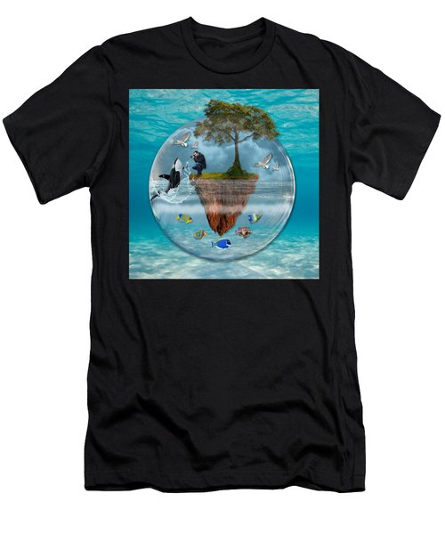 Men's T-Shirt (Athletic Fit) featuring the mixed media A Fantastical Journey by Marvin Blaine