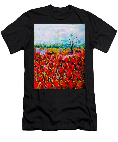 A Field Of Flowers # 2 Men's T-Shirt (Athletic Fit)