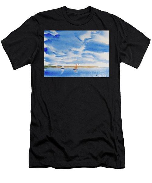 A Fine Sailing Breeze On The River Derwent Men's T-Shirt (Athletic Fit)