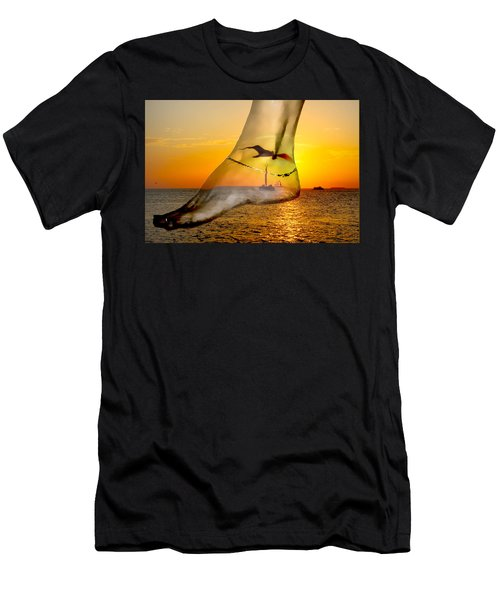 A Foot In The Sunset Men's T-Shirt (Athletic Fit)