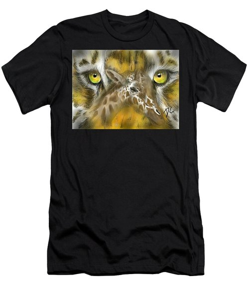 Men's T-Shirt (Athletic Fit) featuring the digital art A Friend For Lunch by Darren Cannell