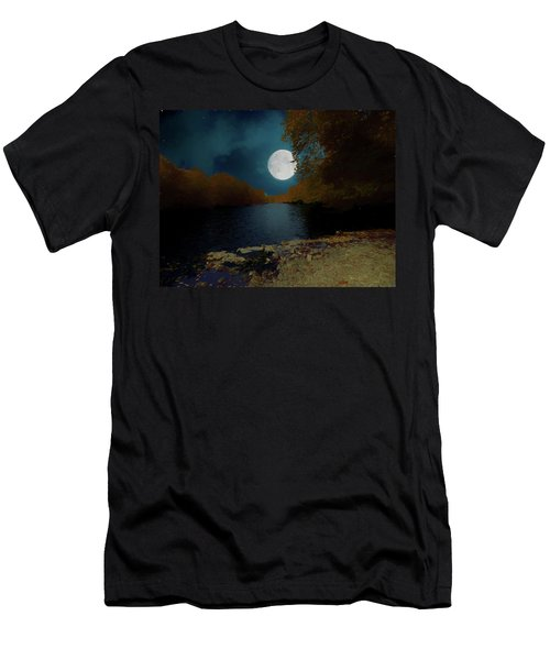 A Full Moon On A River. Men's T-Shirt (Athletic Fit)