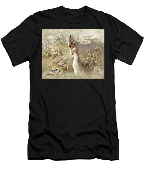 Men's T-Shirt (Athletic Fit) featuring the digital art A Gentle Touch by Melinda Hughes-Berland