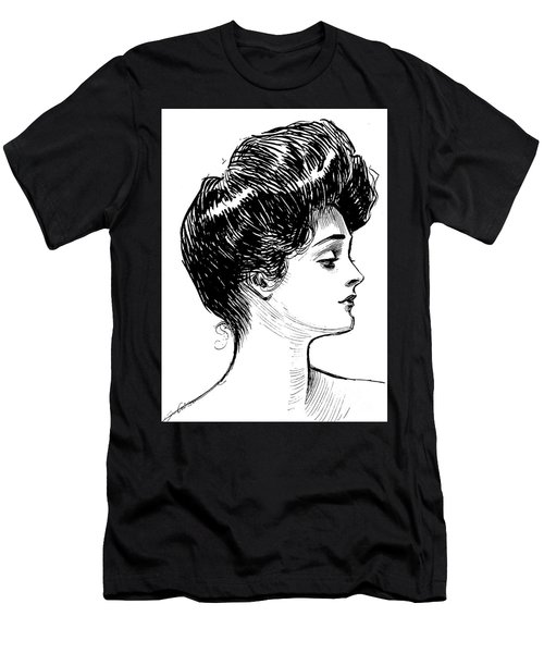 A Gibson Girl, 1902 Litho Men's T-Shirt (Athletic Fit)