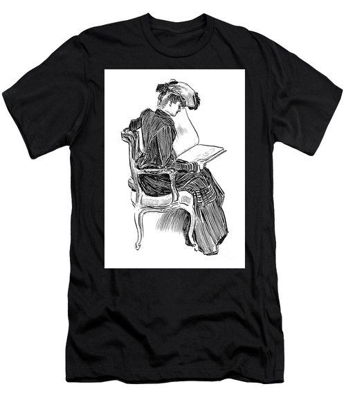 A Gibson Girl, Circa 1902 Men's T-Shirt (Athletic Fit)