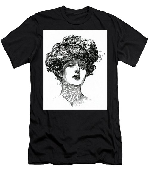 A Gibson Girl, Circa 1902 Lithograph Men's T-Shirt (Athletic Fit)