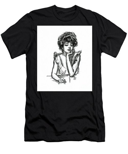 A Gibson Girl Posing Men's T-Shirt (Athletic Fit)