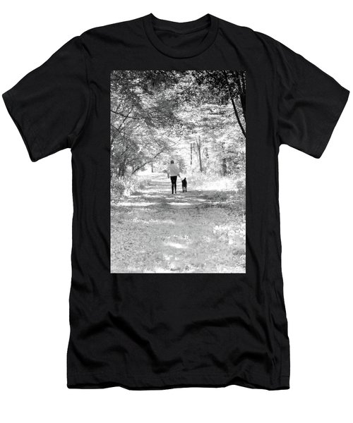 A Girl And Her Dog Men's T-Shirt (Athletic Fit)