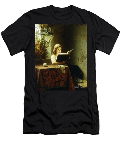 A Girl Reading Men's T-Shirt (Slim Fit)