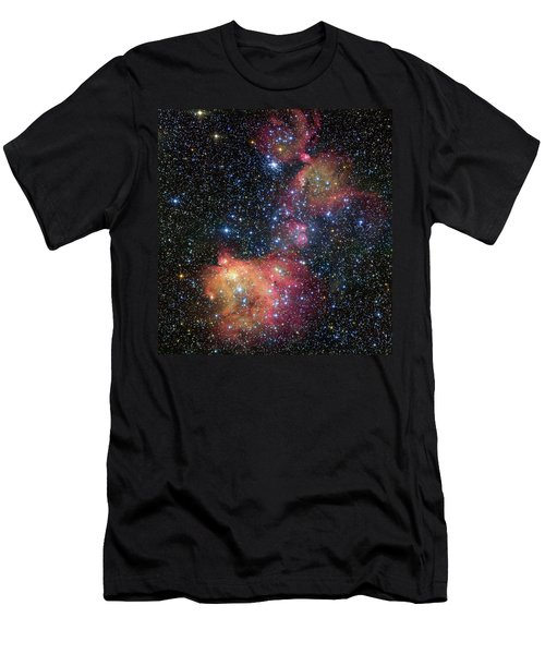 Men's T-Shirt (Slim Fit) featuring the photograph A Glowing Gas Cloud In The Large Magellanic Cloud by Eso