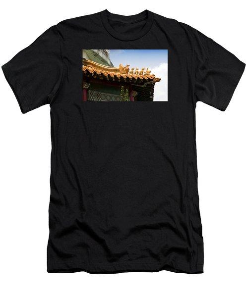 Men's T-Shirt (Slim Fit) featuring the photograph A Golden Parade by Rebecca Davis