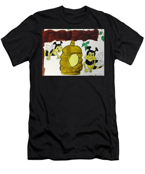A Honey And The Bees Men's T-Shirt (Athletic Fit)