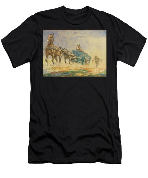 A Horse Ambulance In World War One Men's T-Shirt (Athletic Fit)
