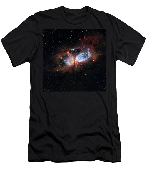 Men's T-Shirt (Slim Fit) featuring the photograph A Composite Image Of The Swan by Nasa