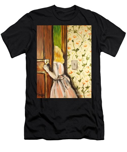 Men's T-Shirt (Athletic Fit) featuring the painting A Journey Begins by Maria Langgle