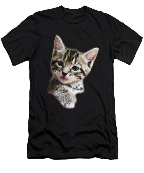 A Kittens Helping Hand On A Transparent Background Men's T-Shirt (Athletic Fit)