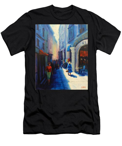 A Lady From Cajamarca In The City, Peru Impression Men's T-Shirt (Athletic Fit)