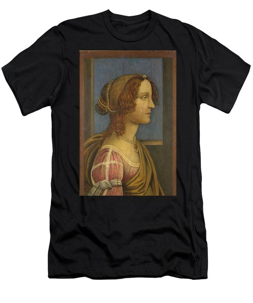 A Lady In Profile Men's T-Shirt (Athletic Fit)