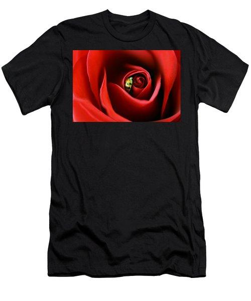 A Lady's Love Men's T-Shirt (Slim Fit) by The Art Of Marilyn Ridoutt-Greene