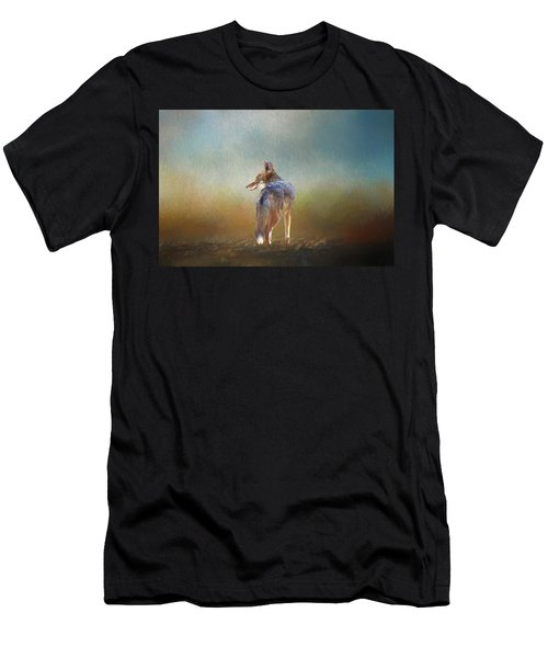 A Lone Coyote Men's T-Shirt (Athletic Fit)