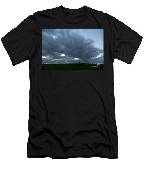 Alone In The Face Of The Storm Men's T-Shirt (Athletic Fit)