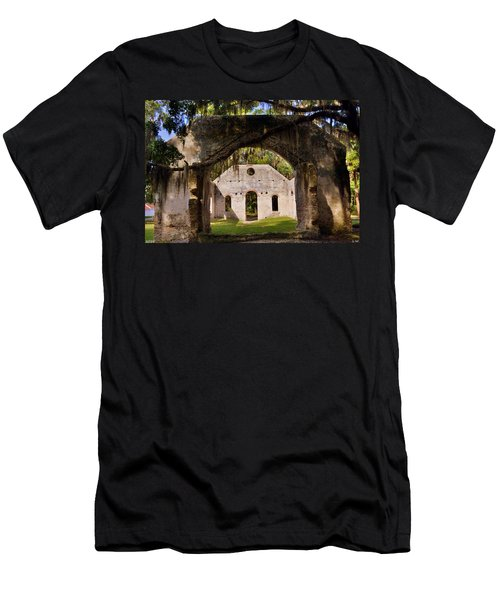 A Look Into The Chapel Of Ease St. Helena Island Beaufort Sc Men's T-Shirt (Athletic Fit)