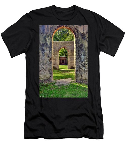 A Look Through Chapel Of Ease St. Helena Island Beaufort Sc Men's T-Shirt (Athletic Fit)