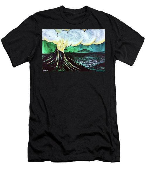 Men's T-Shirt (Athletic Fit) featuring the painting A Love Explosion by Nathan Rhoads