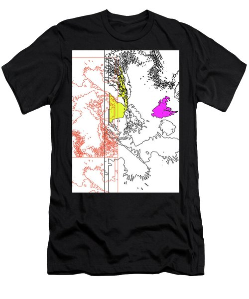 A Map Of Irises Men's T-Shirt (Athletic Fit)