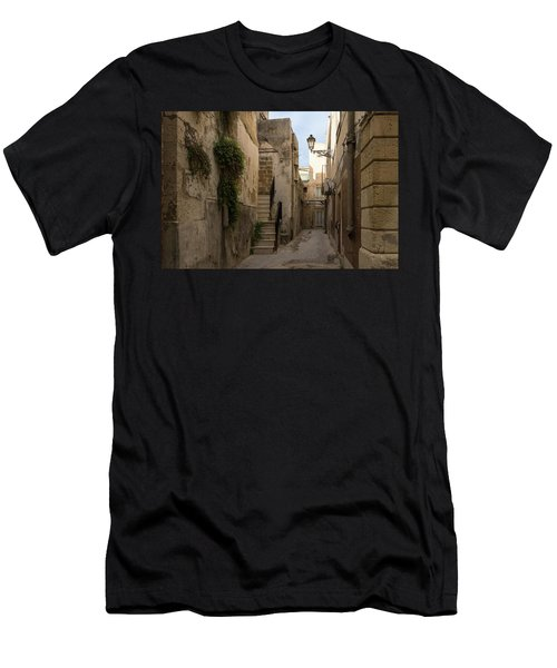 A Marble Staircase To Nowhere - Tiny Italian Lane In Syracuse Sicily Men's T-Shirt (Athletic Fit)