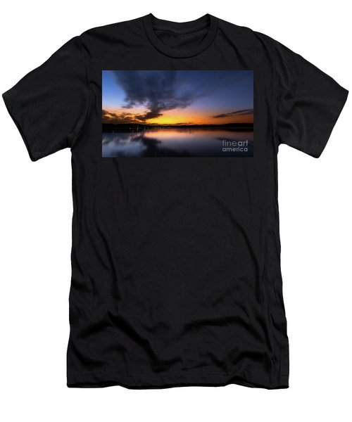 A Misty Sunset On Lake Lanier Men's T-Shirt (Athletic Fit)