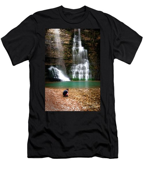 Men's T-Shirt (Slim Fit) featuring the photograph A Moment In Time by Tamyra Ayles