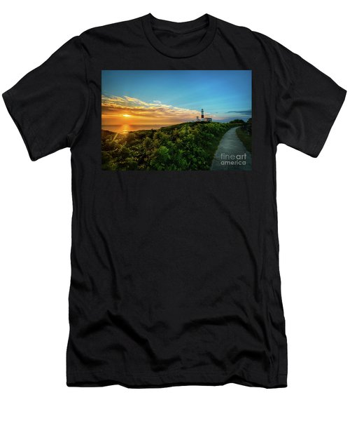 A Montauk Lighthouse Sunrise Men's T-Shirt (Athletic Fit)